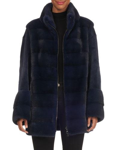 b4dfca7dd99 Quick Look. Gianfranco Ferre · Sheared Sleeve Zip-Front Mink Jacket