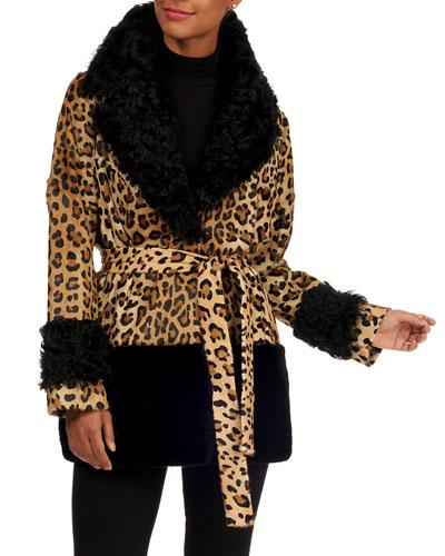 f08b29e8669 Quick Look. Simonetta Ravizza · Leopard-Print Lamb Fur Jacket ...