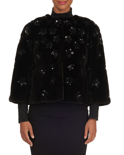 89762cb25 Long Sleeves Mink Jacket | Neiman Marcus