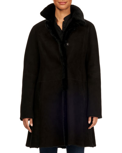 Lamb-Shearling Stroller Jacket