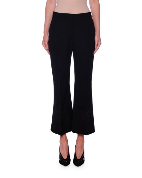 Stella McCartney Anglais Flare Crop Trousers