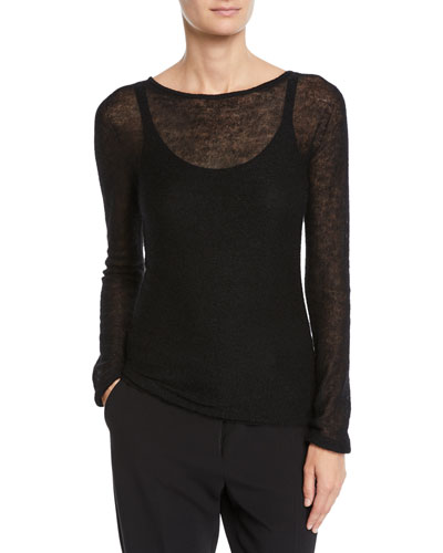 Spalato Semisheer Knitted Mohair-Blend Sweater