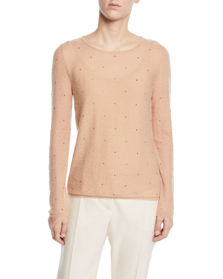 Maxmara Embellished Powdered-Knit Sweater