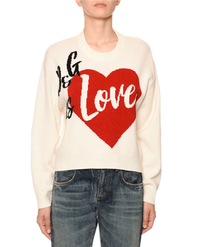 Cashmere D&G Is Love Intarsia Sweater