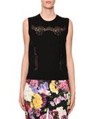 Dolce & Gabbana Crewneck Sleeveless Knit Shell Top