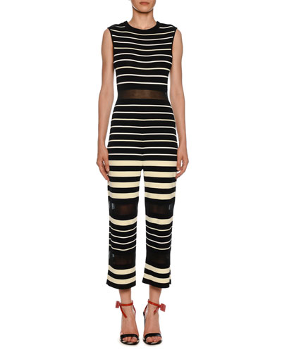 dedb4960101a Quick Look. Off-White · Sleeveless Striped Jumpsuit