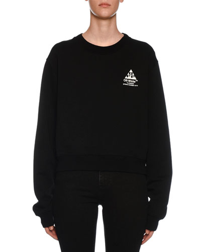 Floral-Embroidered Crewneck Sweatshirt