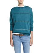 Brunello Cucinelli Multicolor Monili-Striped Cashmere-Silk
