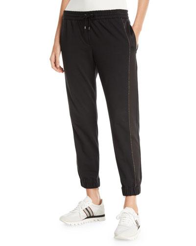 13e8c730526 Quick Look. Brunello Cucinelli · Silk   Monili Side-Panel Jogger Pants