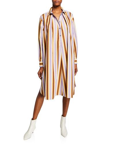 Degrade Striped Poplin Shirt