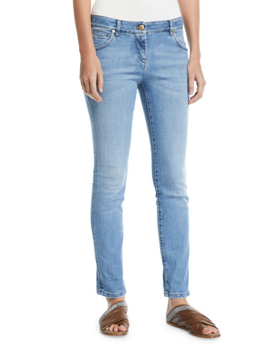 acd0bd8b0316c Quick Look. Brunello Cucinelli · Low-Rise Skinny Stretch-Denim Pants