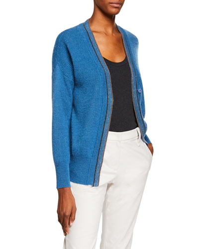 Ribbed Mohair Cardigan