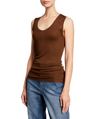 Shimmer Scoop Neck Tank Top
