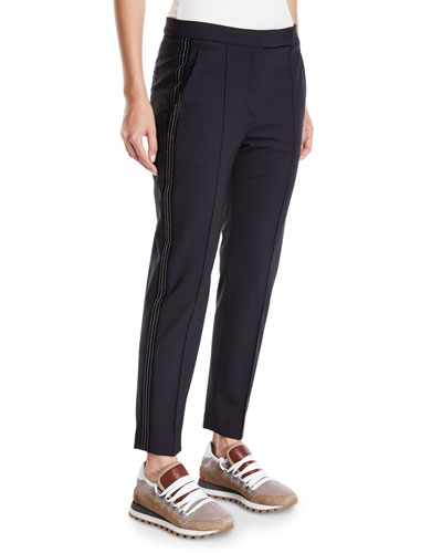 Lightweight Wool Narrow Tuxedo Pants