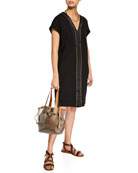 Brunello Cucinelli See-Through Shoulder Tote Bag and Matching