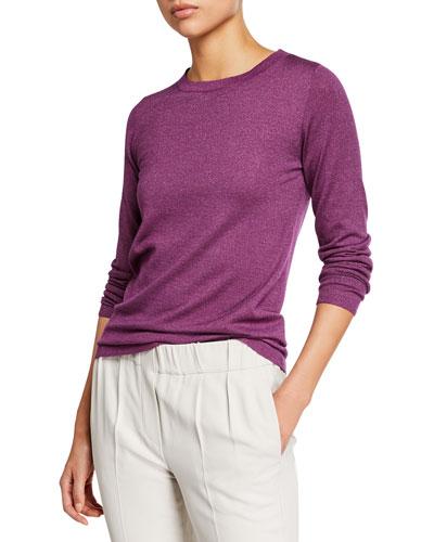 3f1756b2cdda Quick Look. Brunello Cucinelli · Crewneck Long-Sleeve Cashmere-Blend Knit  Pullover