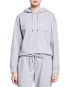 Brunello Cucinelli Heathered Monili-Pocket Hoodie Sweatshirt and