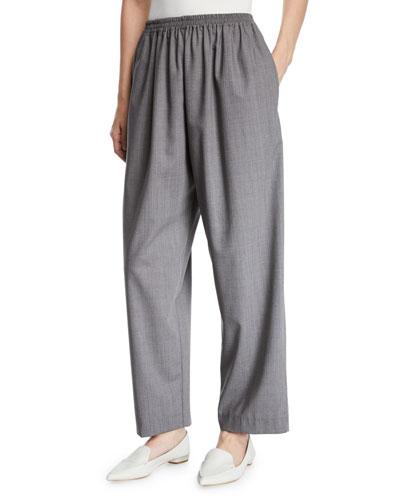 Tasmanian Mini-Plaid Wool Trousers