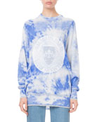 Balmain Long-Sleeve Tie-Dye Logo Sweatshirt and Matching Items