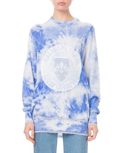 Long-Sleeve Tie-Dye Logo Sweatshirt