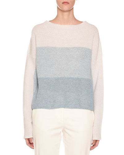 Degrade Colorblocked Ribbed Sweater