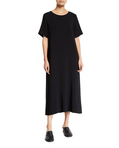 Short Sleeve Maxi Dress Neiman Marcus