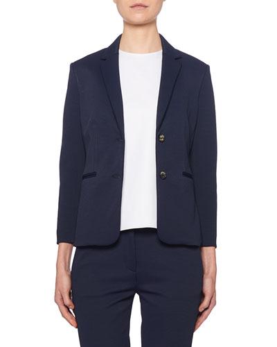Montia Jersey Two-Button Blazer