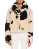 Chloe Reversible Two-Tone Shearling Fur Jacket