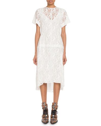 Short-Sleeve Heritage Horse-Lace Dress