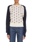 Chloe Raglan Horse-Jacquard Pullover Sweater and Matching Items