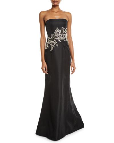 Black Strapless Gown Neiman Marcus