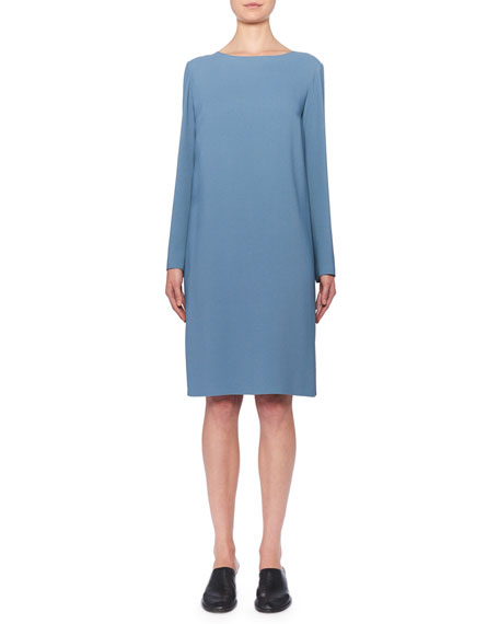 THE ROW Karina Long-Sleeve Shift Dress