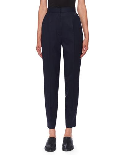High-Rise Talia Wool-Twill Pants