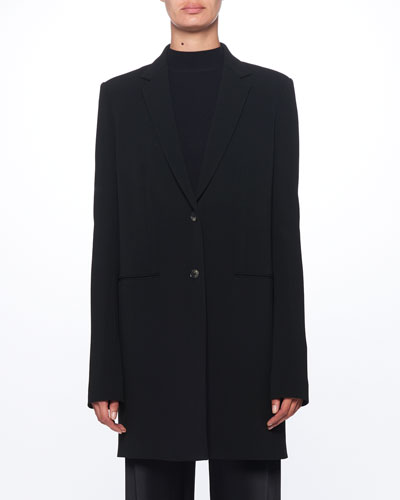 46fc978bbd10 Quick Look. THE ROW · Batilda Two-Button Long Wool Jacket