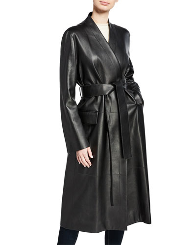 Jumo Deerskin Trench Coat