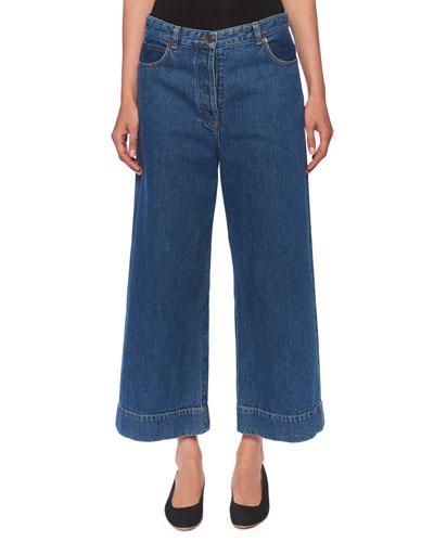 Edna Mid-Rise Wide-Leg Jeans
