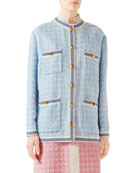 Gucci Jacket Light Pastel Tweed and Matching Items