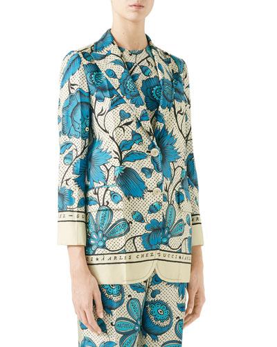 Silk Watercolor Floral Jacket
