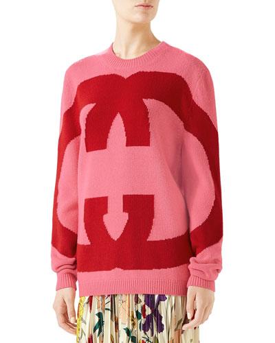 Interlocking Intarsia GG Wool Sweater