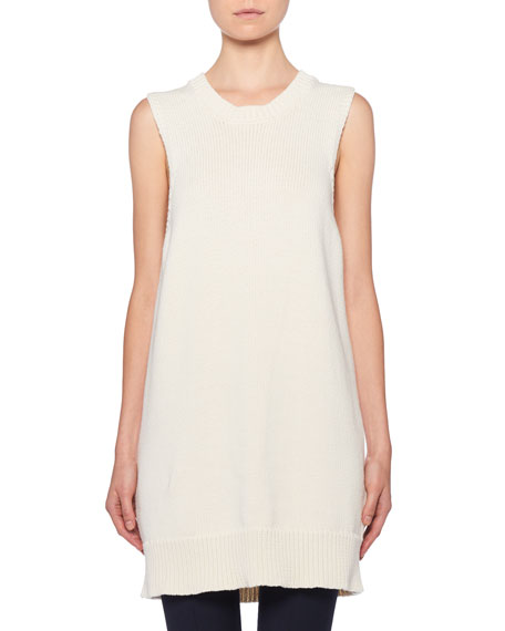 THE ROW Dee Sleeveless Ribbed Tunic Sweater