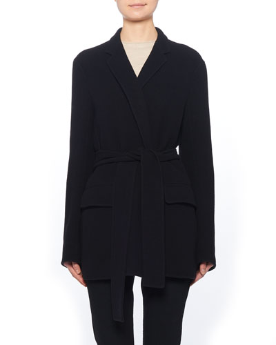 Tora Tie-Waist Wool Coat
