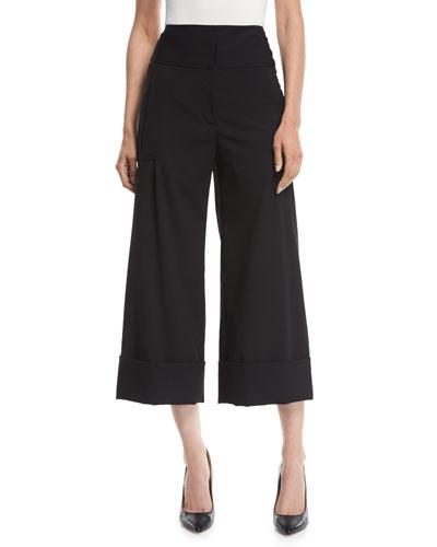High-Rise Cropped Wide-Leg Pants