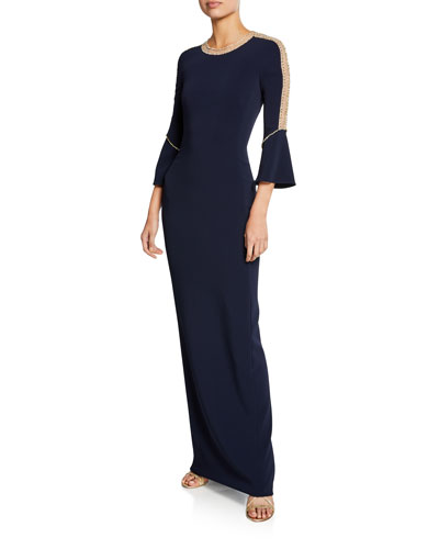 db4621931db Quick Look. Jenny Packham · Dian Long Bell-Sleeve Gown