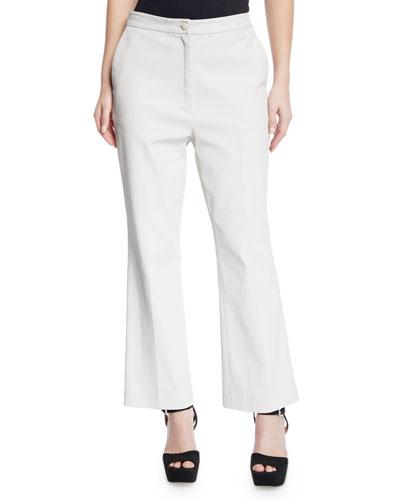 Hadley High-Waist Waxed Denim Flare Pants
