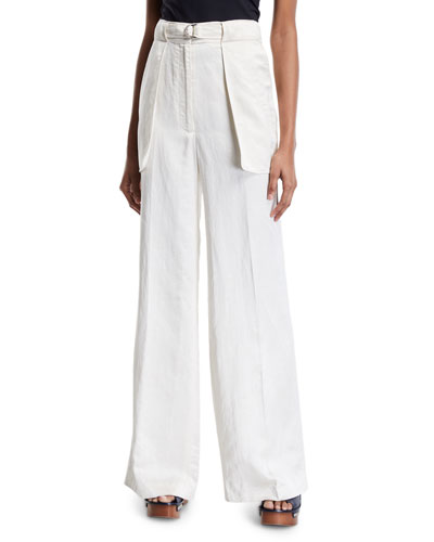 Cameron Wide-Leg Belted Pants