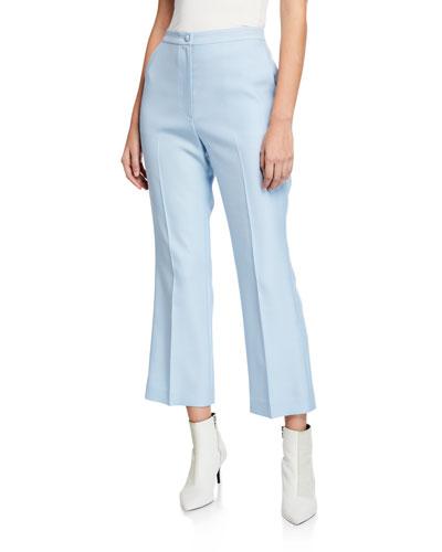 Hadley High-Waist Flat-Front Flare Leg Pants