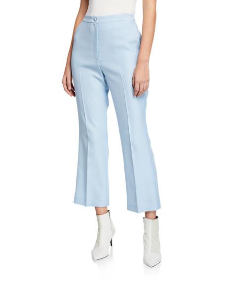 Partow Hadley High-Waist Flat-Front Flare Leg Pants