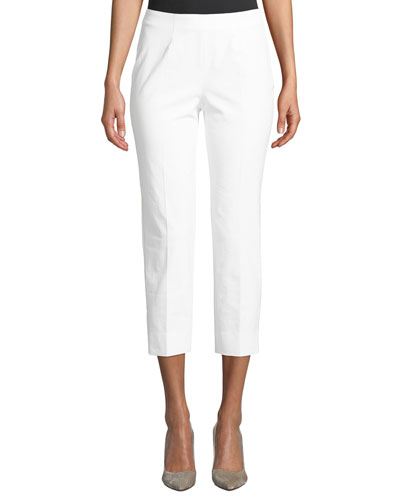 Audrey Cropped Straight-Leg Pants