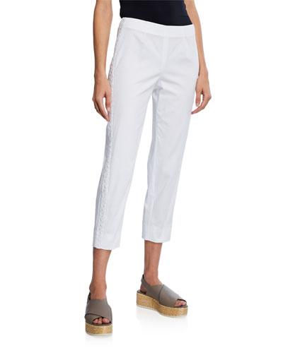 Audrey Lace Trim Straight-Leg Pants