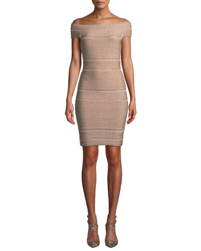 cda9971a449a Herve Leger · Off-The-Shoulder Bandage Dress